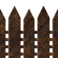 Old rusty fence Royalty Free Stock Images