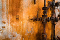 Old rusty  gas pipe line Royalty Free Stock Photo