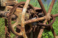 Old rusty gears and cogs Royalty Free Stock Photo