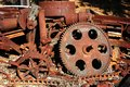 Old rusty gears and cogs
