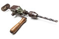 Old rusty hand drill Stock Photo