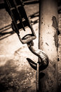 Old rusty hook in the harbour Royalty Free Stock Photography