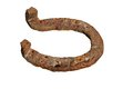 Old rusty horseshoe Royalty Free Stock Photo