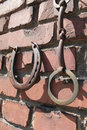 Old rusty horseshoes and bridles Royalty Free Stock Photo