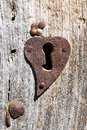 Old rusty keyhole on the door Royalty Free Stock Photo