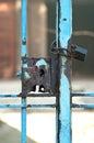 Old rusty lock grunge gate Stock Image