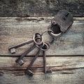 Old Rusty Lock With Keys