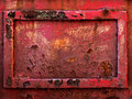 Old rusty metal frame Royalty Free Stock Photo
