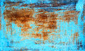 Old rusty metal texture painted with blue paint Royalty Free Stock Photo