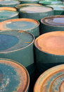 Old rusty oil drums Stock Image