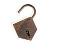 Old rusty padlock Royalty Free Stock Photo