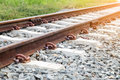 Old rusty railway track Royalty Free Stock Photo
