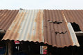 Old rusty roof Royalty Free Stock Photo
