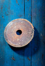 Old rusty saw blade Royalty Free Stock Photos