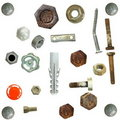 Old rusty Screw heads, bolts, Royalty Free Stock Photo