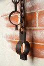 Old rusty shackles Royalty Free Stock Photo