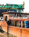 Old rusty ship Stock Image
