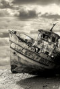Old rusty ship. Yafo, Israel. Royalty Free Stock Photo