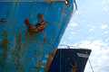Old rusty ships bows detail of Stock Photos