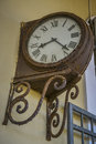 Old rusty station clock Royalty Free Stock Photo