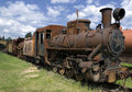 Old rusty steam locomotive Royalty Free Stock Photo