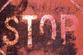 Old rusty stop sign Royalty Free Stock Images