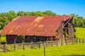 Old Rusty Tin Roof Barn
