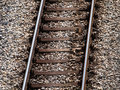 Old rusty train tracks Royalty Free Stock Photo