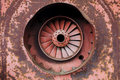 Old rusty turbine Stock Images