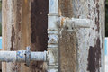 Old and rusty water pipe Royalty Free Stock Photo