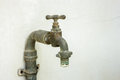 Old rusty water tap Royalty Free Stock Photo
