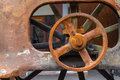 Old rusty wheel close up Royalty Free Stock Photography
