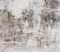 Old rusty white metallic background metal plate with paint Stock Photos
