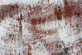 Old rusty white metallic background a metal plate with whit paint Royalty Free Stock Photos