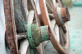 Old rusty wooden wheel picture of a Royalty Free Stock Images