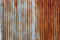 Old rusty zinc wall for textured background, Tin roof abstract r Royalty Free Stock Photo