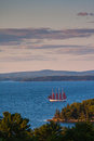Old sailboat in Bar Harbor Royalty Free Stock Photo