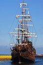 Old sailing-ship Royalty Free Stock Photos