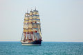 Old sailing ship in full sail Royalty Free Stock Photo