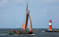 Old sailing ship at Hansesail 2014 (02) Royalty Free Stock Photo