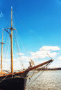 The old sailing ships in dock, Helsinki, Finland