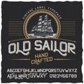 Old Sailor Vintage Label Poster