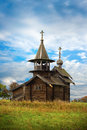 Old Saint Michael wooden church Stock Photos