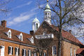 Old salem home moravian church the in historic museum and gardens in winston north carolina usa the college bookstore Royalty Free Stock Photo