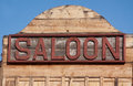 Old Saloon Sign Royalty Free Stock Image