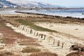 The old salt pans at Gorica Royalty Free Stock Photos