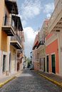 Old San Juan Street Royalty Free Stock Photography