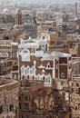 Old sanaa buildings traditional yemeni houses Royalty Free Stock Photos