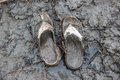 Old Sandal dirty Royalty Free Stock Photo
