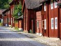 Old scandinavian buildings Stock Photography
